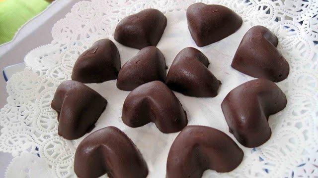 bombones de chocolate corazones