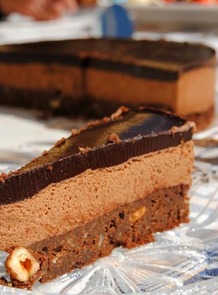 mousse de chocolate tarta