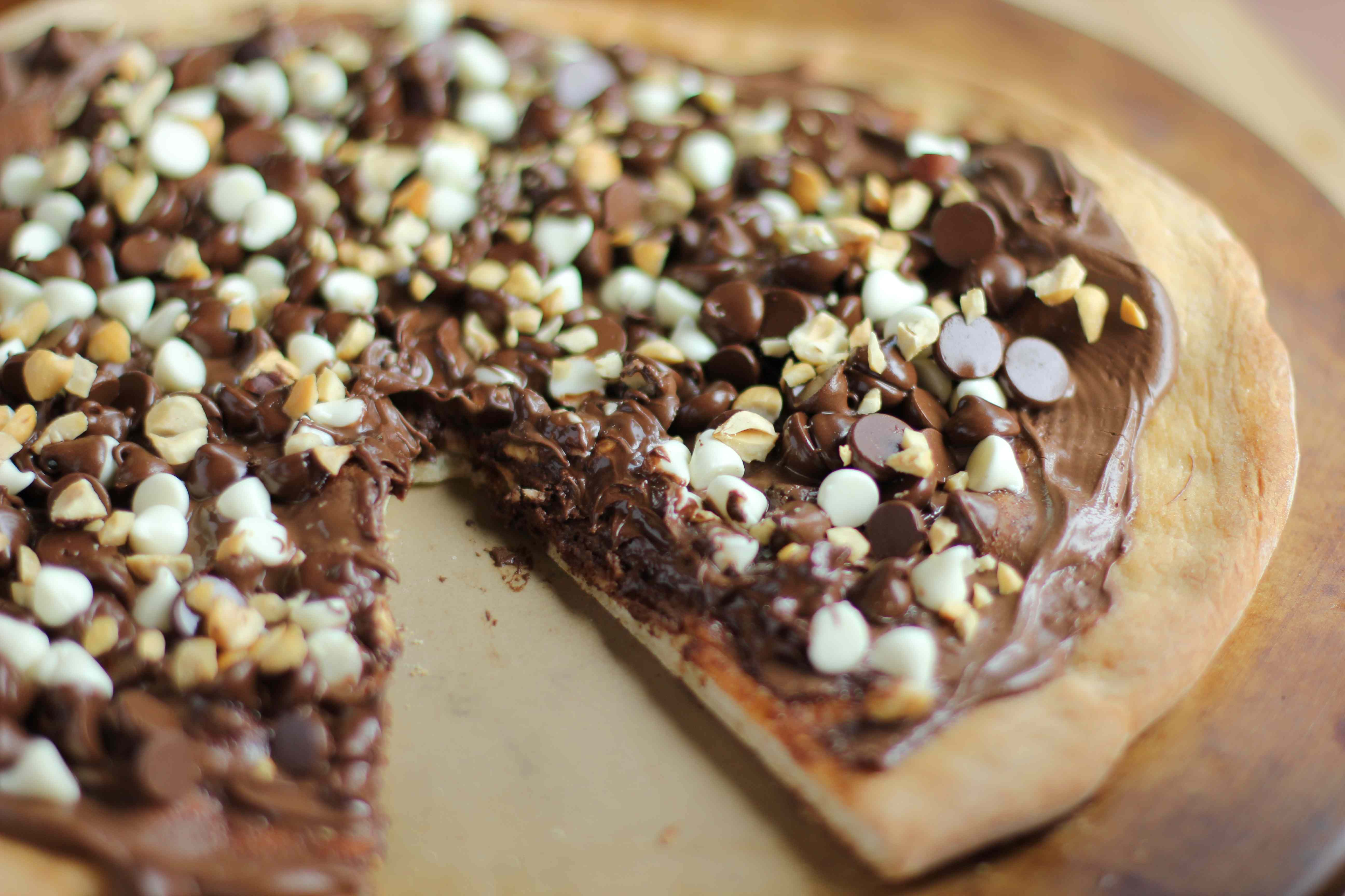 pizza de chocolate