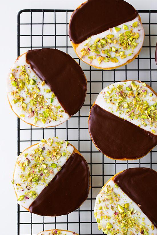 Galletas chocolate y pistacho
