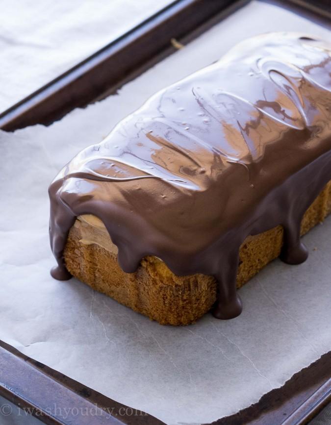 bizcocho crema de cacahuete y chocolate