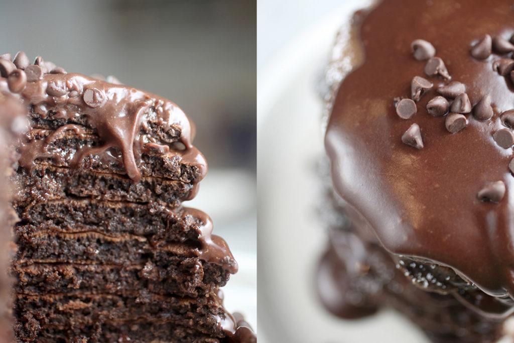 Tortitas de doble chocolate receta